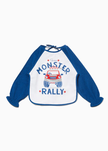 Monster truck bib with sleeves