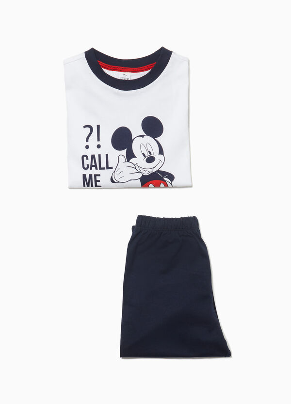 Cotton pyjamas with Mickey Mouse print
