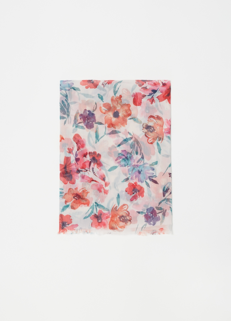 Floral print scarf image number null
