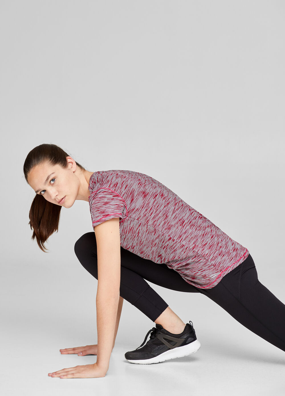 Gym T-shirt with rounded hem