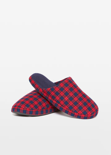 Check pattern slippers