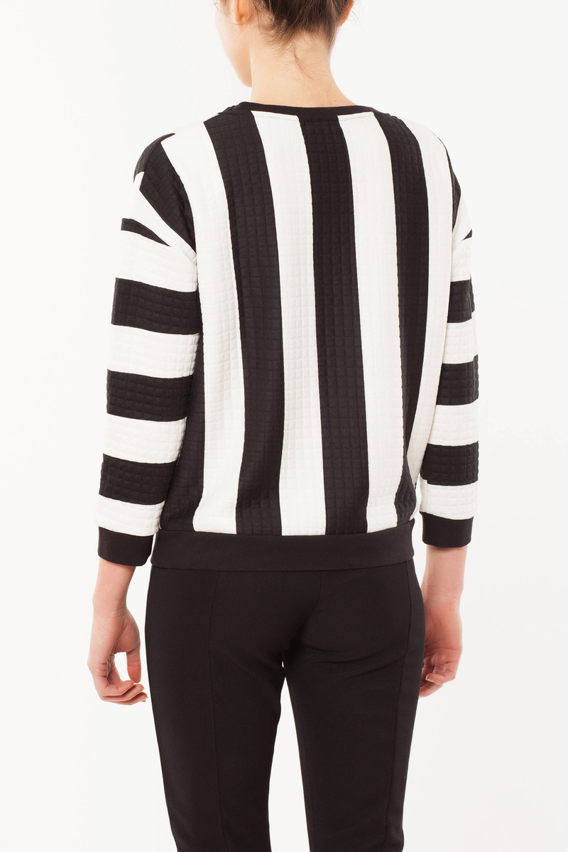 Striped sweatshirt image number null