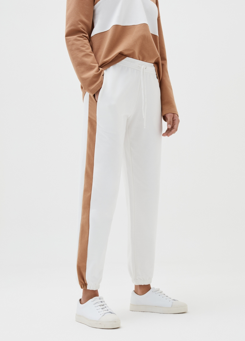 Joggers with side bands image number null