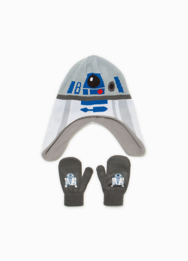 Star Wars hat and mittens set