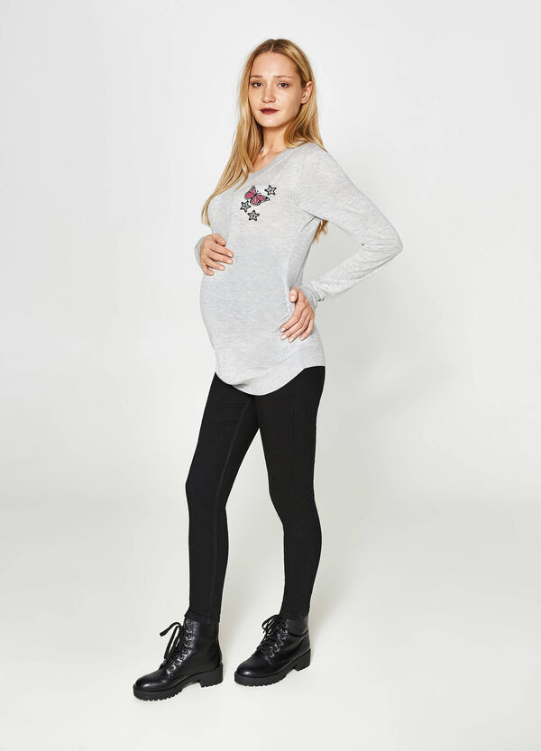 MUM cotton pullover with patch | OVS