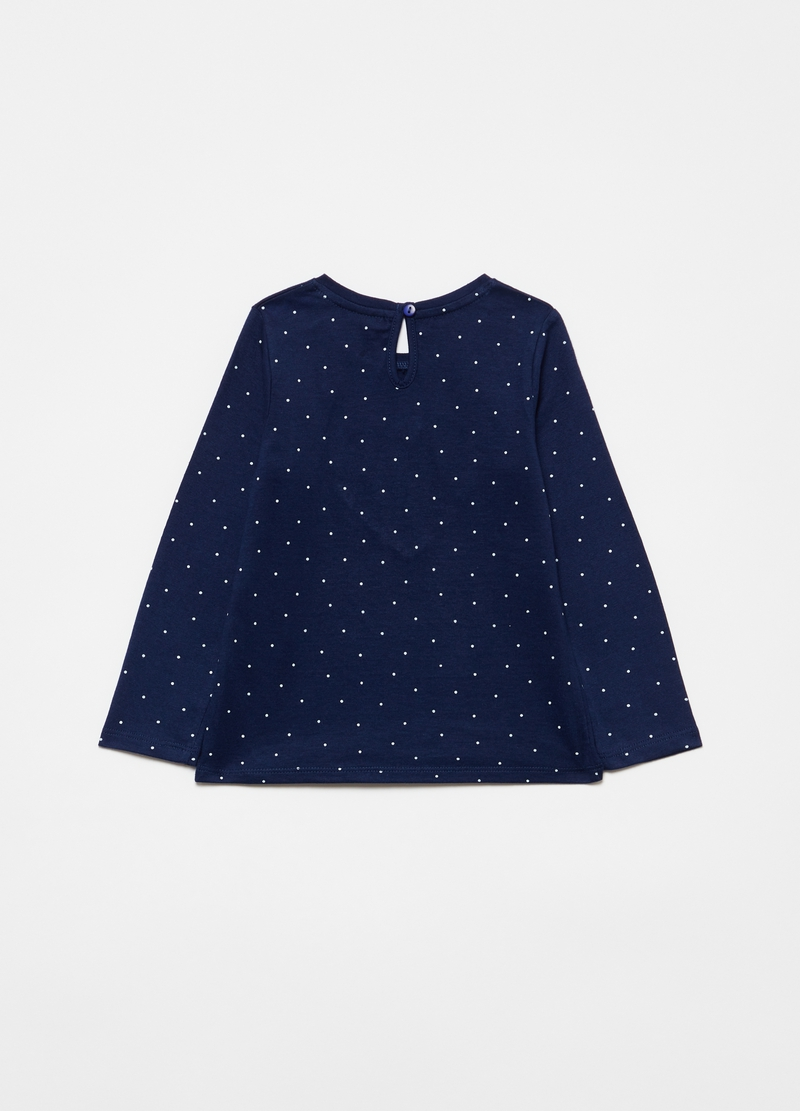 100% organic cotton T-shirt with polka dots image number null
