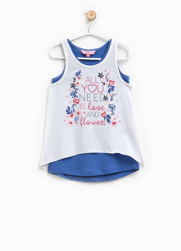 Two-pack tops with lettering print | OVS