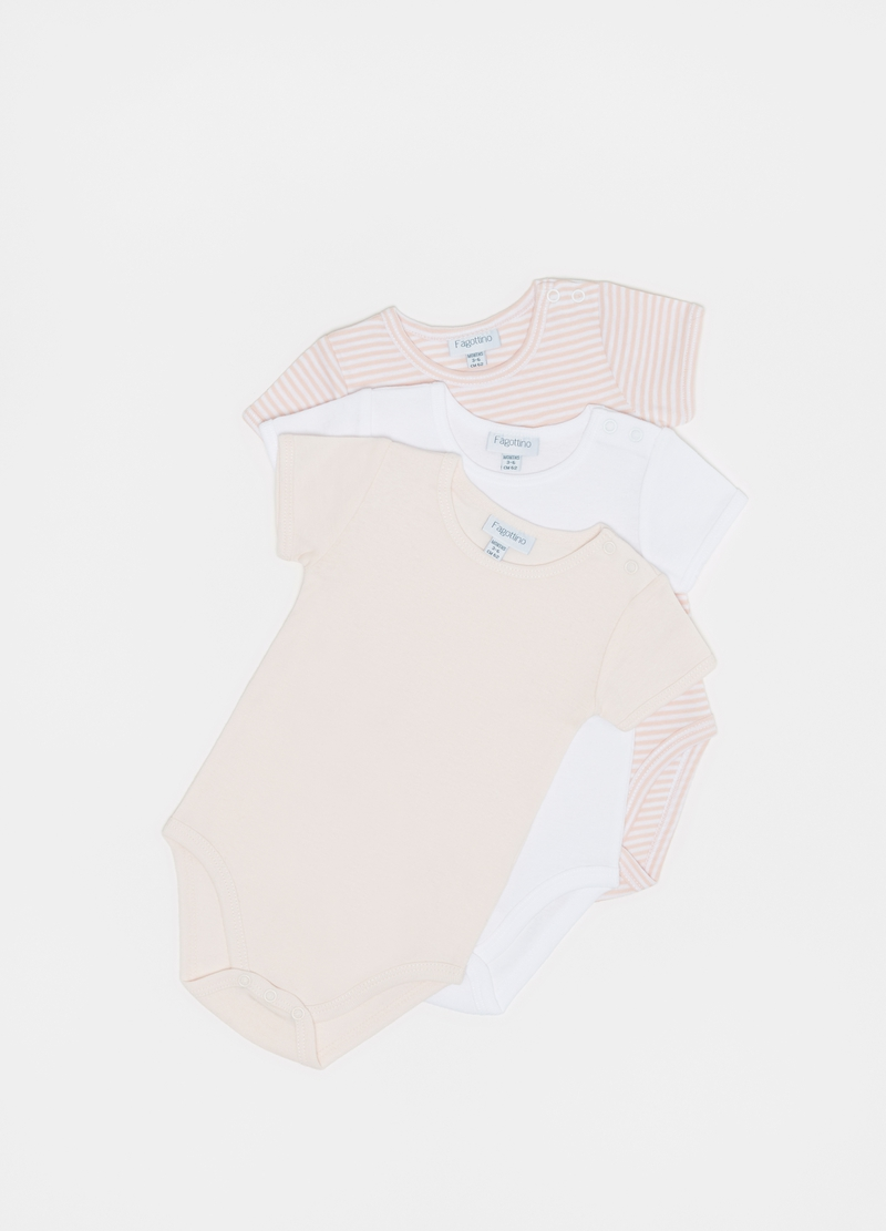Three-pack 100% cotton bodysuits with round neck image number null