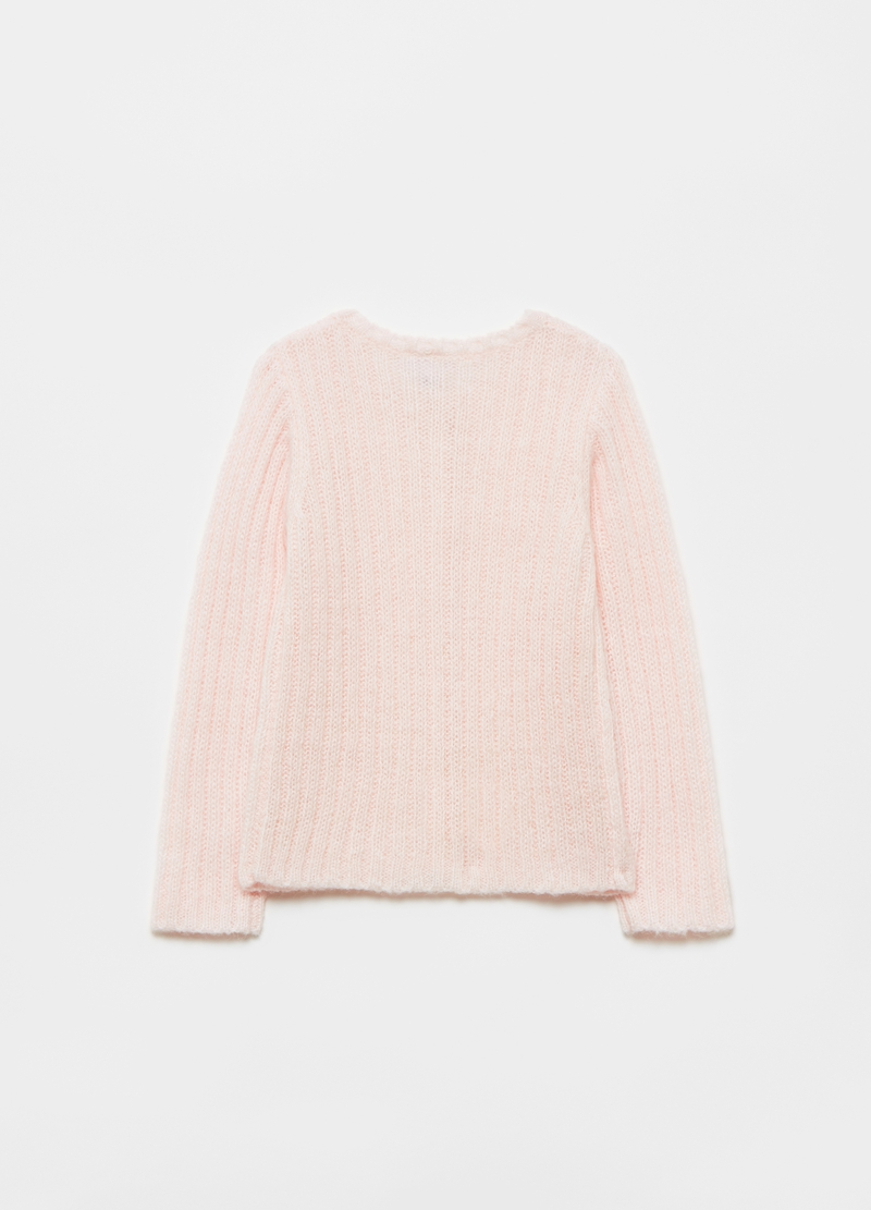Cardigan misto lana a coste image number null