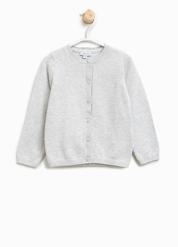 Cotton cardigan with glitter trim | OVS
