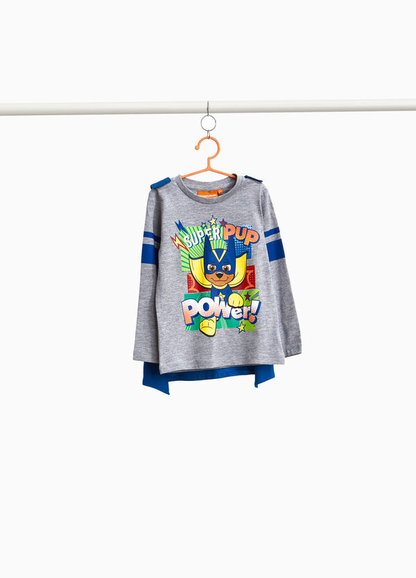 Cape T-shirt with Super Pup Heroes print
