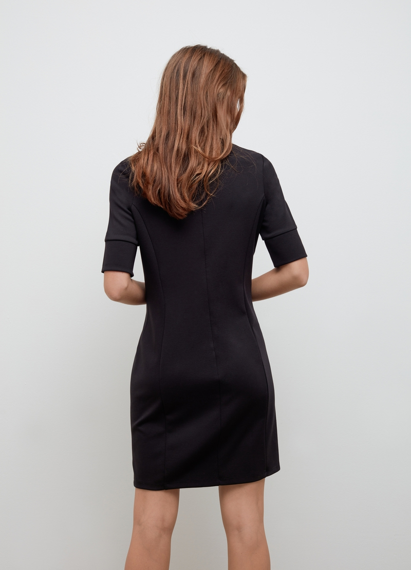 Stretch dress with jewel buttons image number null