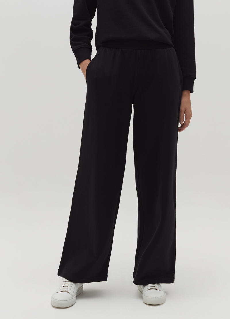Wide-leg trousers in fleece image number null
