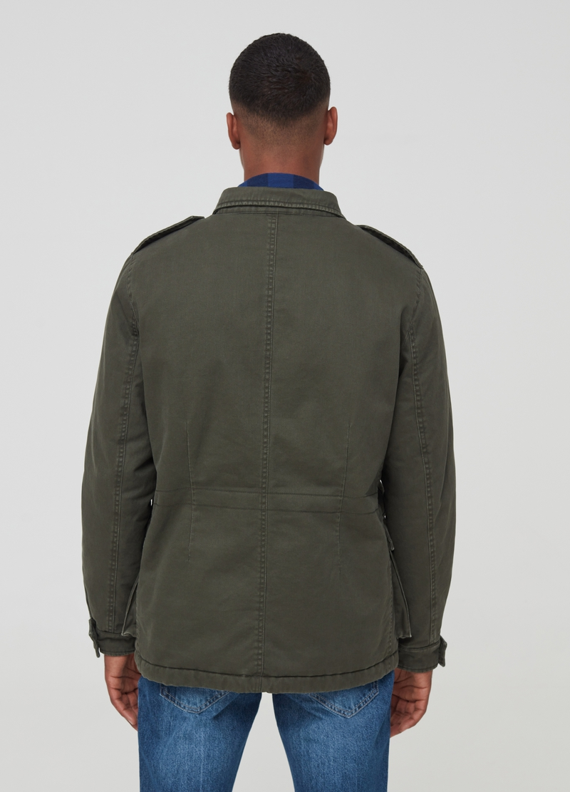 100% cotton jacket with four pockets image number null