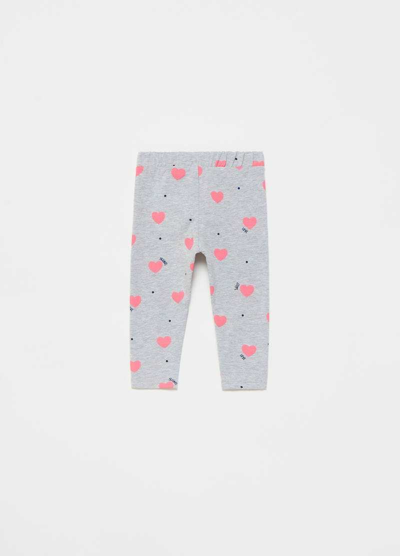 Joggers stampa cuori all-over image number null