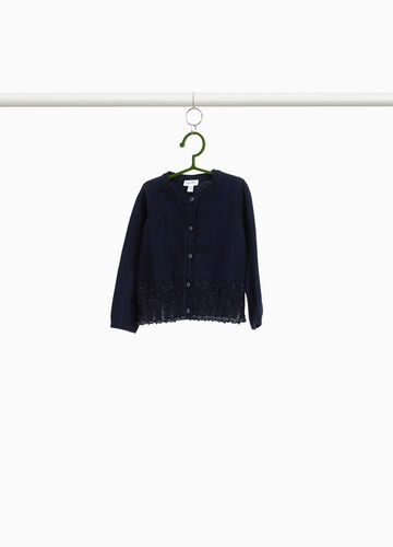 100% cotton cardigan with diamantés