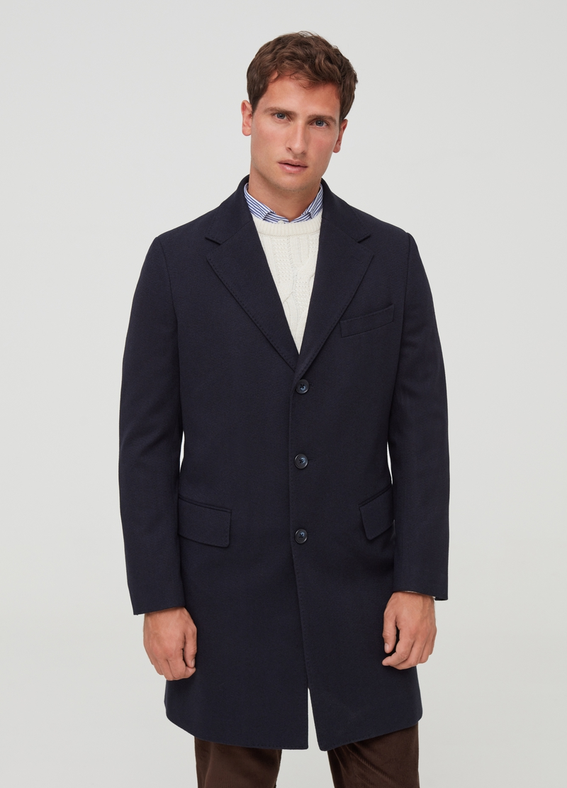 PIOMBO slim-fit coat with lapels image number null