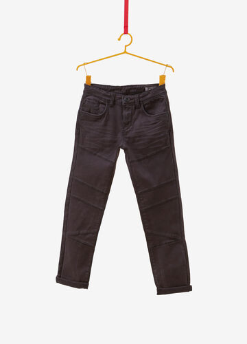 Pantaloni cotone stretch con baffature