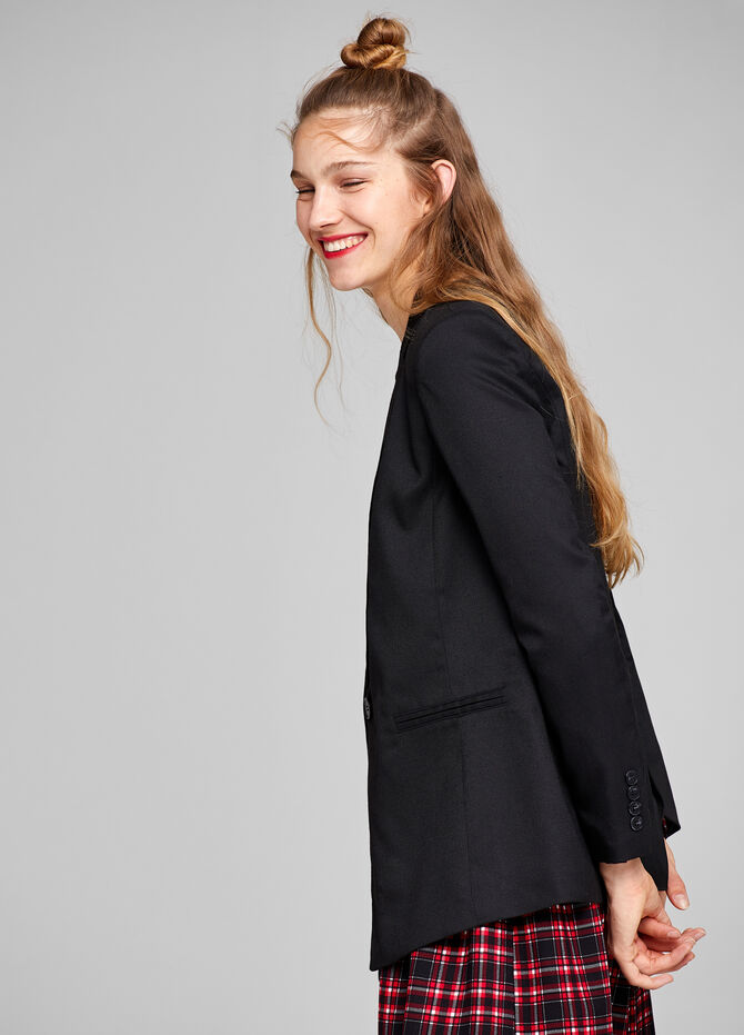 Stretch blazer with lapels