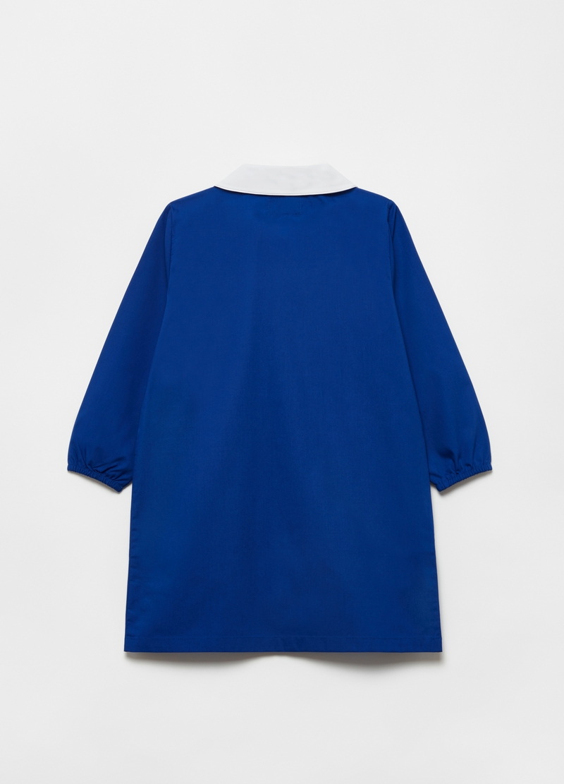 Solid colour smock with diamantés image number null