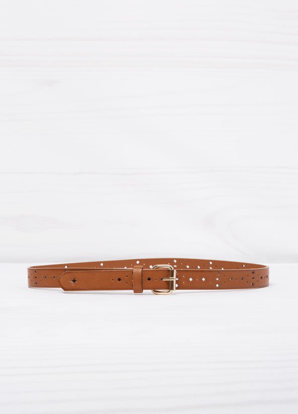 Openwork leather look belt | OVS