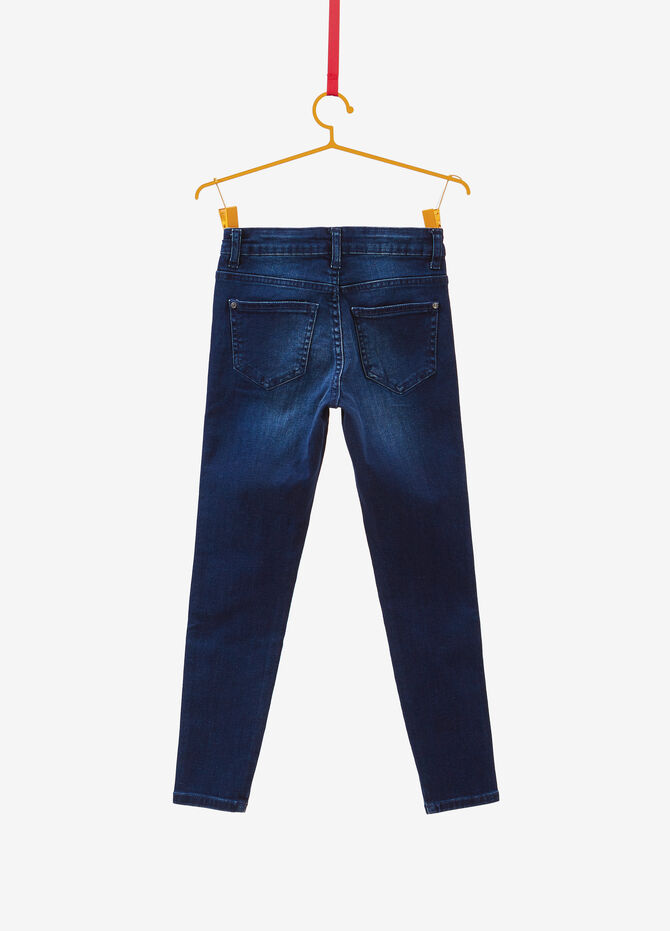 Super-skinny-fit stretch jeans with side bands