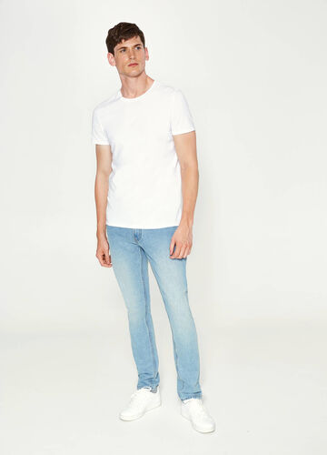 Straight-fit faded jeans