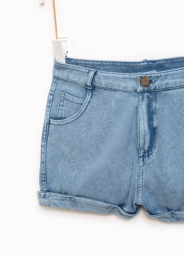 Denim shorts with turn-up | OVS