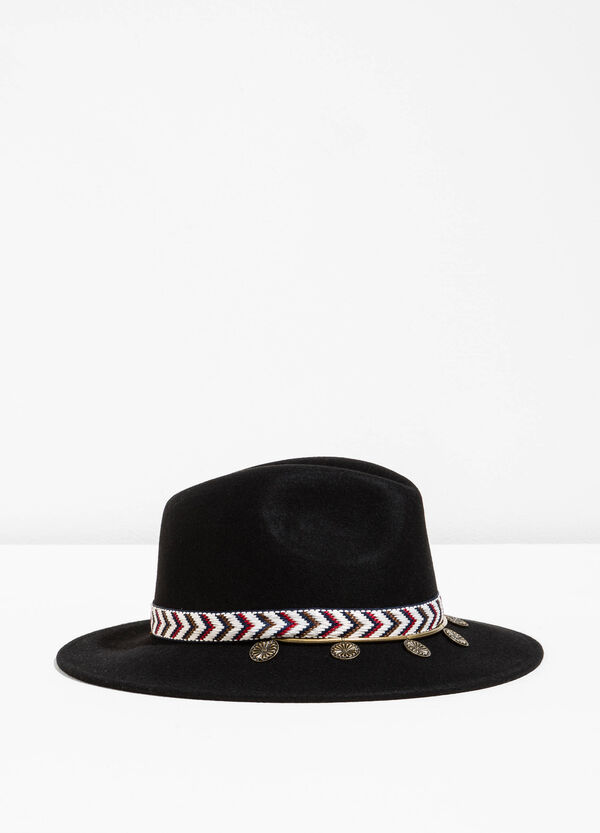 Wide-brimmed hat with pendants | OVS