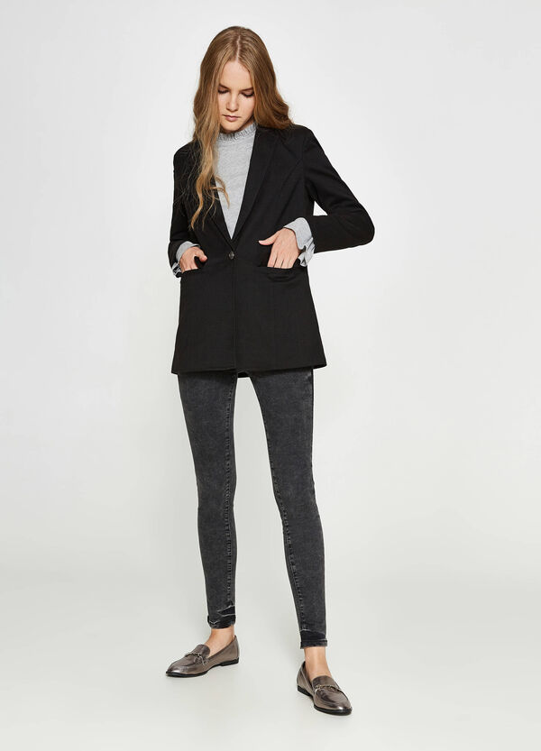 Blazer in misto viscosa stretch