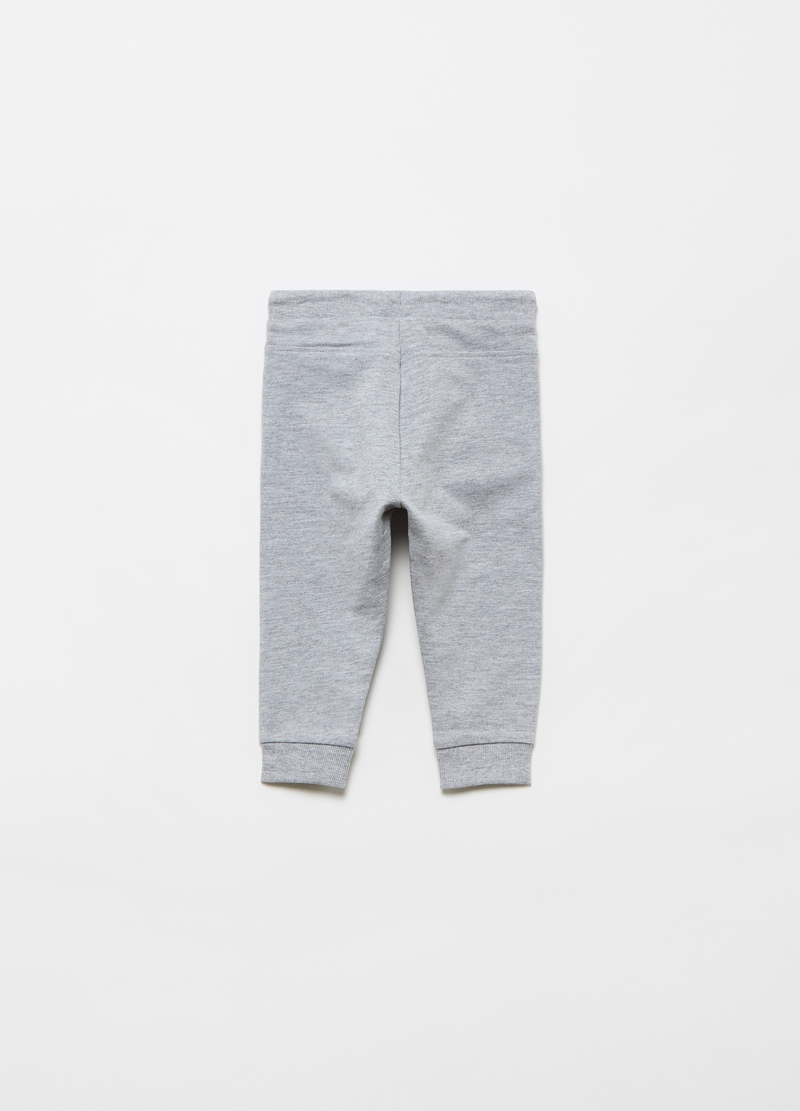 Viscose and cotton joggers with pockets image number null