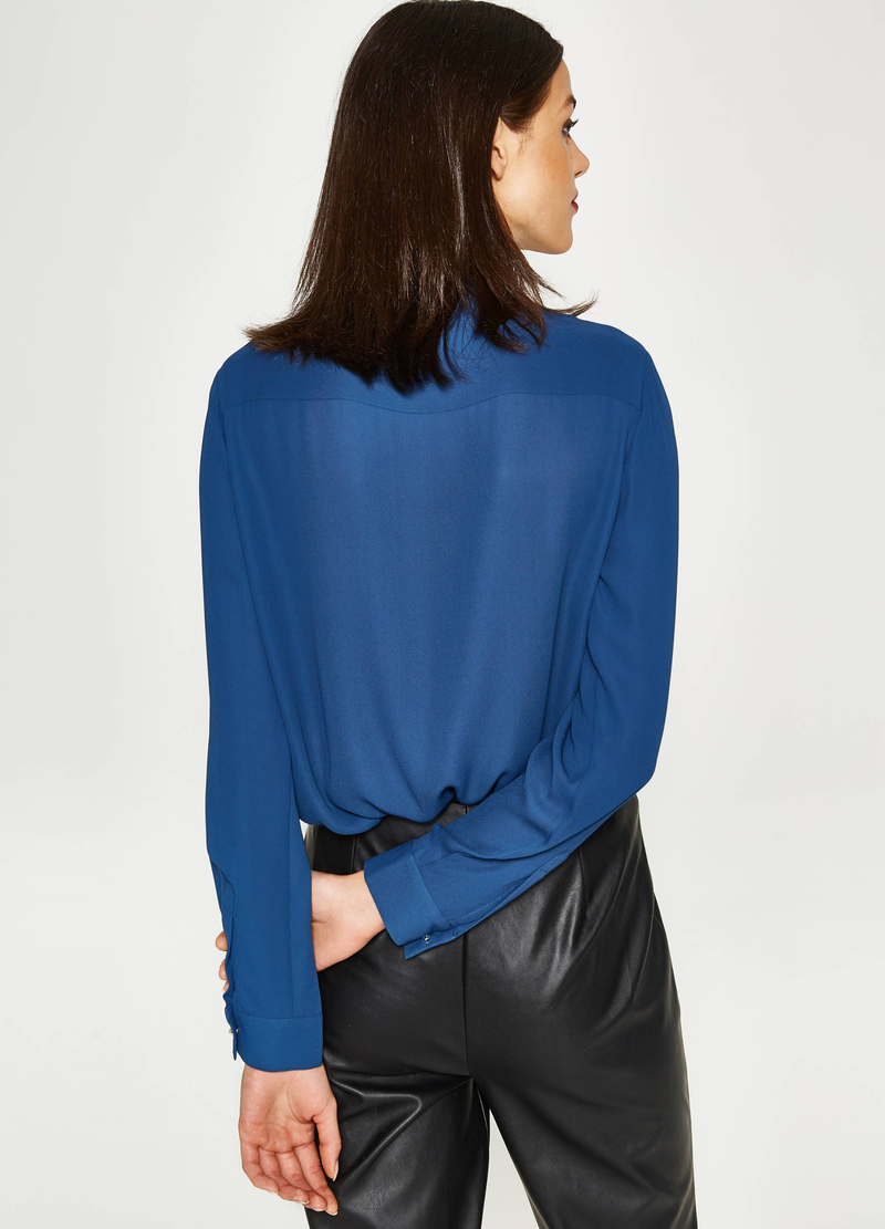 Blouse with cross-over front image number null