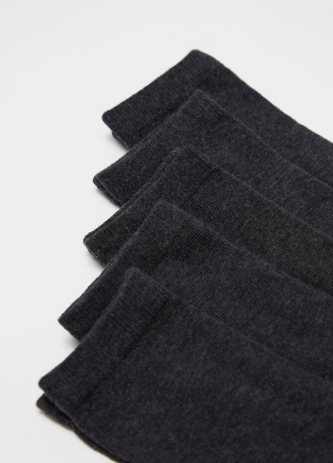 Five-pair pack short socks in warm cotton