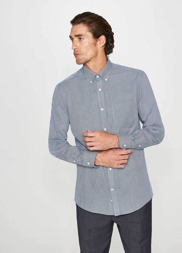 Camicia formale regular fit micro quadri | OVS