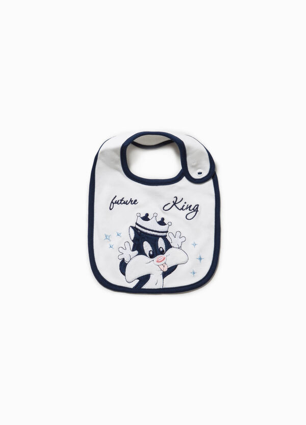 Cotton bib with Sylvester embroidery | OVS