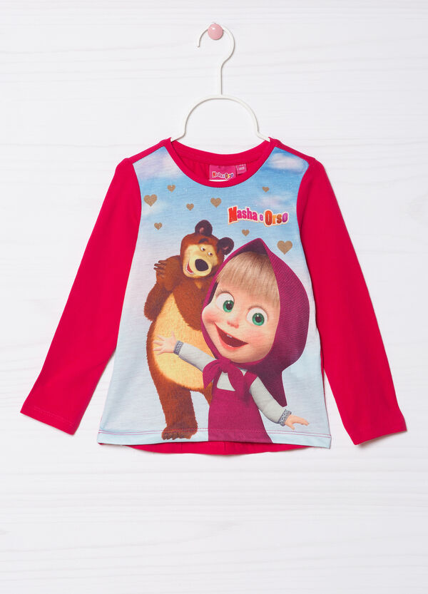 Masha and the Bear T-shirt in stretch cotton   OVS