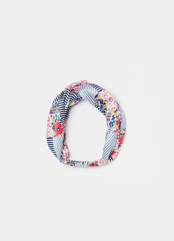 Floral and striped hair band