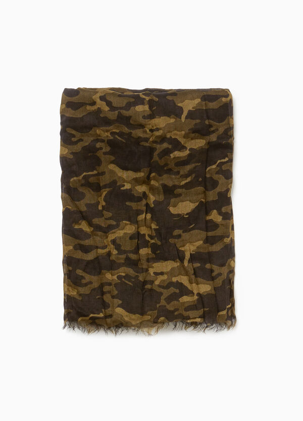 100% viscose camouflage scarf