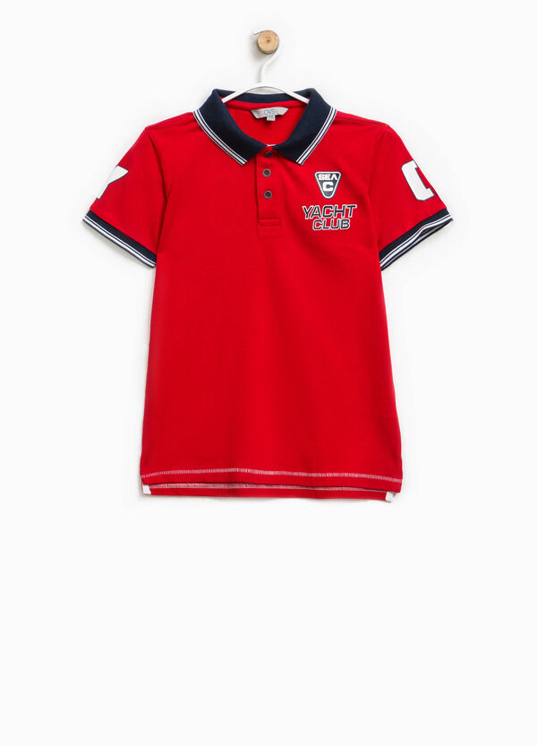 Polo shirt with print and embroidery | OVS