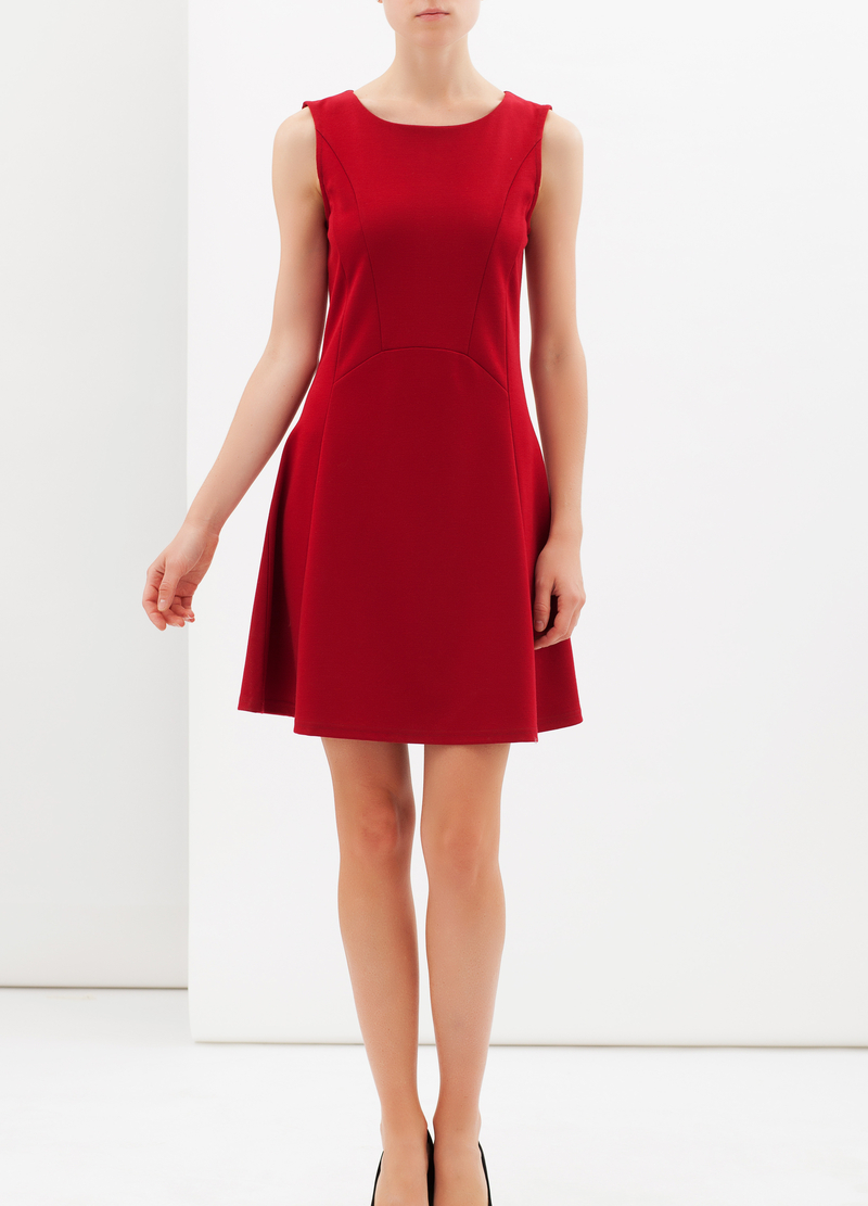Stretch skater dress image number null