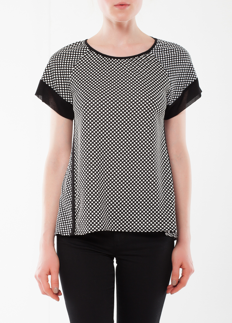 Polka dot stretch T-shirt image number null
