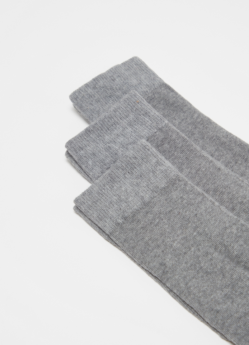 Three-pair pack socks in stretch cotton blend image number null