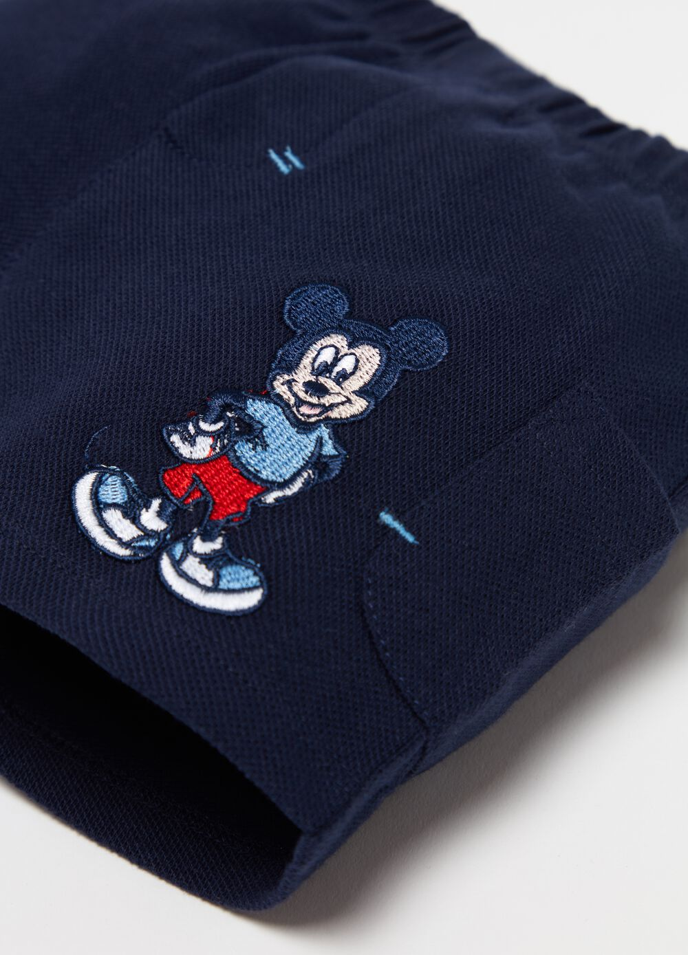 Disney Baby shorts with Mickey Mouse patch