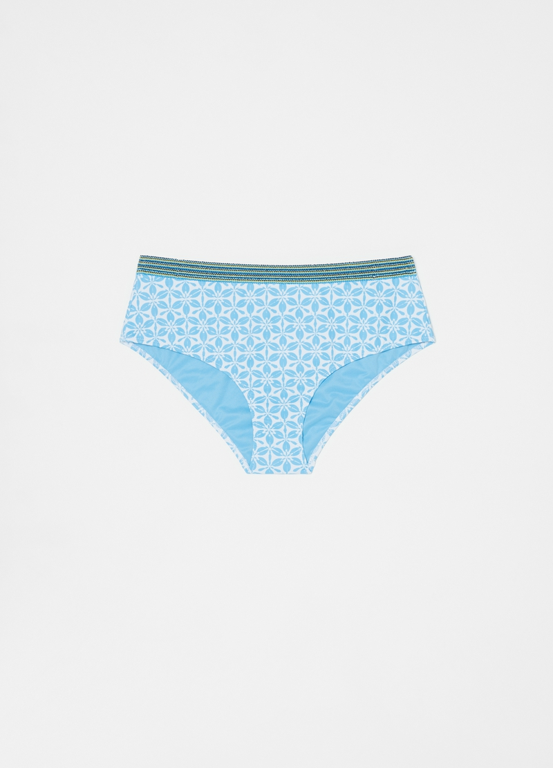 High-waisted bikini briefs with bow image number null