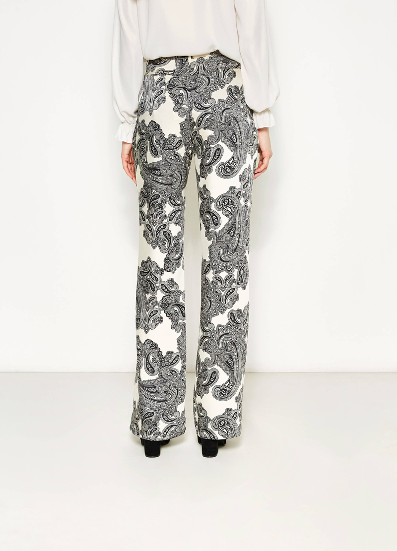 Palazzo trousers with paisley pattern image number null