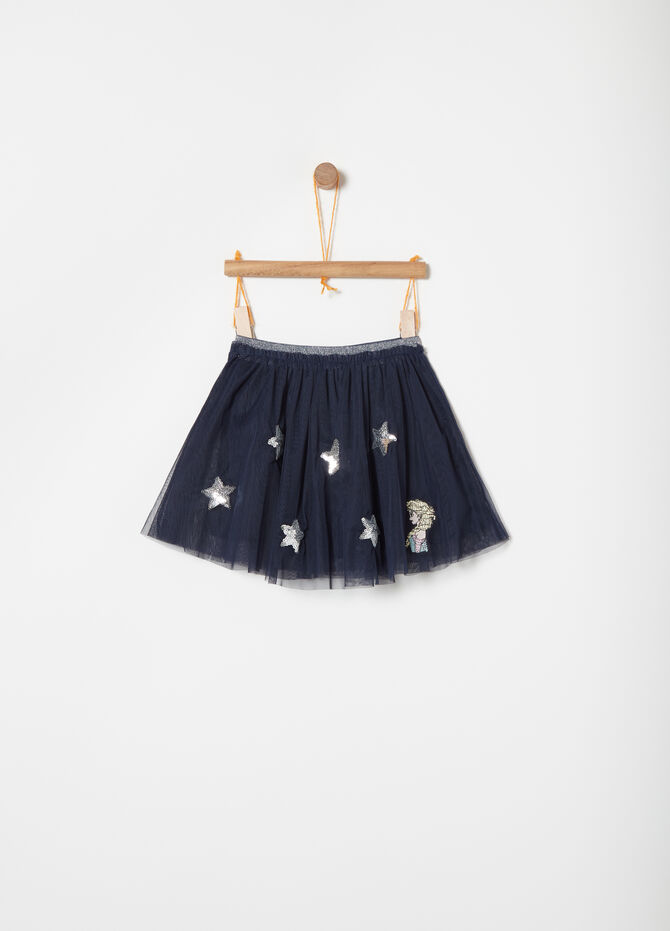 Tulle skirt with Disney Frozen embroidery