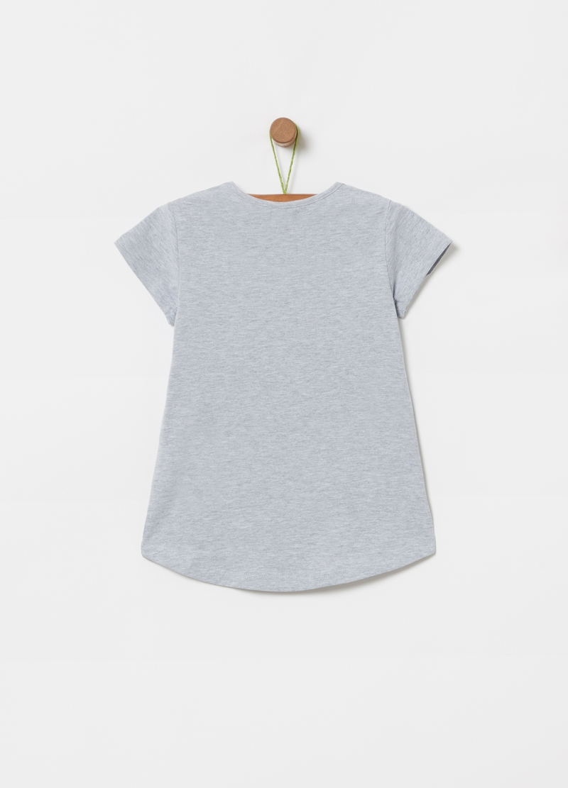 T-shirt con stampa e strass image number null