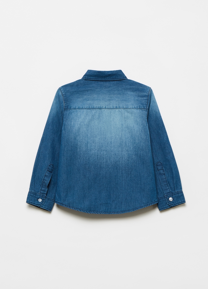 Shirt in 100% cotton denim image number null