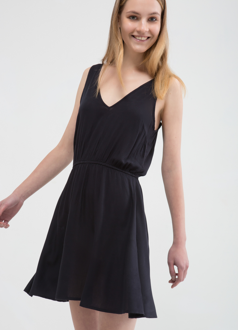 100% viscose dress with full round skirt image number null
