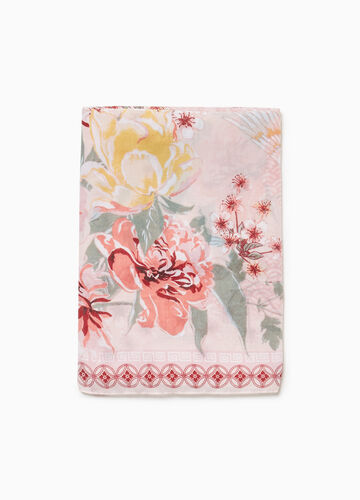 Floral scarf with herons